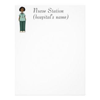 Green Nurse Letterhead