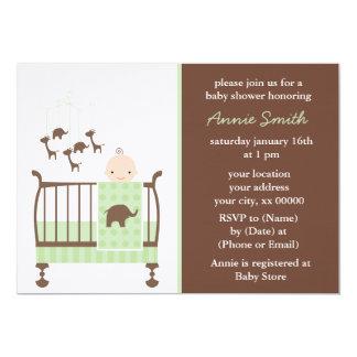 Green Nursery Baby Shower Card