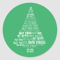 Green Nut Free No Nuts Baking Label Christmas Tree