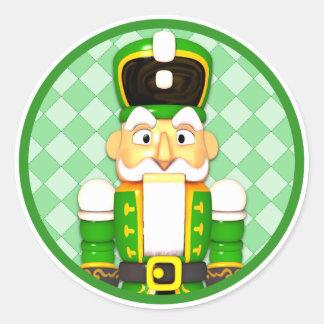 Green Nutcracker Christmas Holiday Stickers