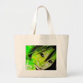 green nymph canvas bags