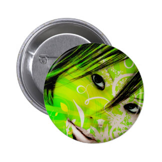 green nymph pinback buttons