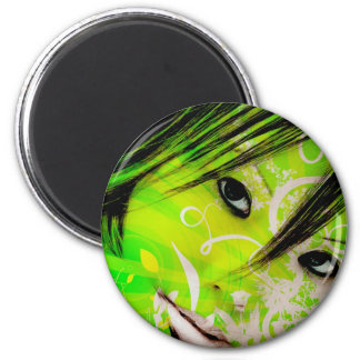 green nymph refrigerator magnets