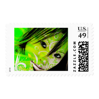 green nymph stamps