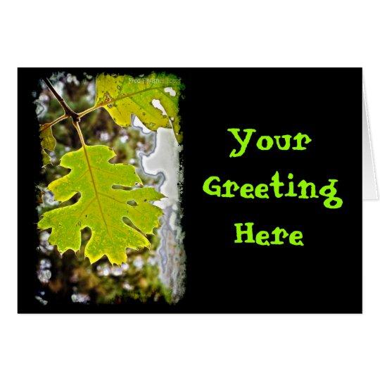 Green Oak Leaf HDR Card