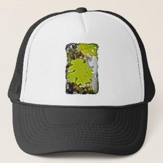 Green Oak Leaf HDR Trucker Hat