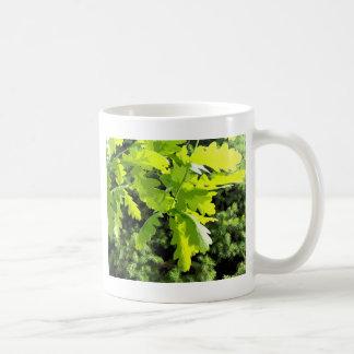 Green Oak Tree Leaves Classic White Coffee Mug