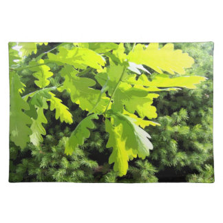 Green Oak Tree Leaves Placemat