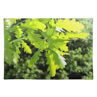 Green Oak Tree Leaves Placemat