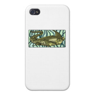 Green Oar Fish Case For iPhone 4