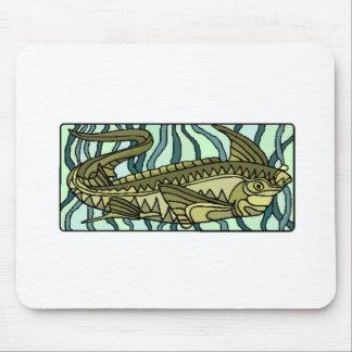 Green Oar Fish Mouse Pad