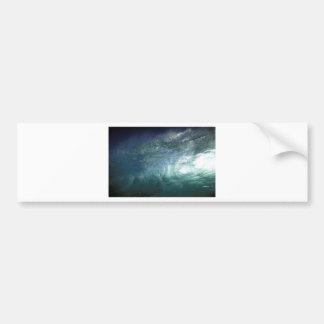 Green ocean wave bumper stickers