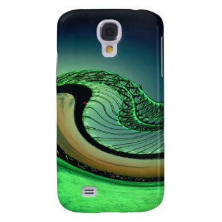 Green ocean wave galaxy s4 cover