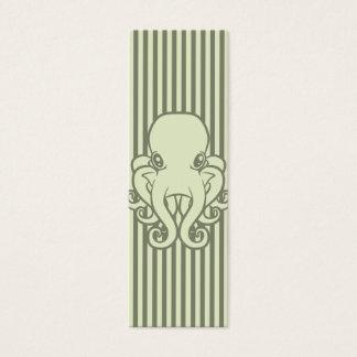 Green Octopus Bookmark Mini Business Card