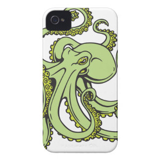 Green Octopus iPhone 4 Case-Mate Cases