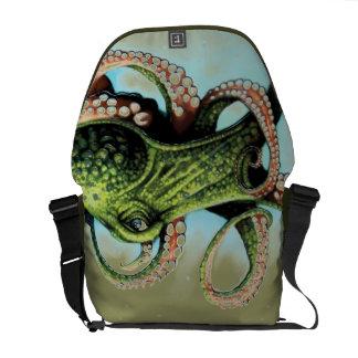 Green Octopus Messenger Bag