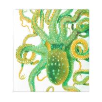 green octopus notepad