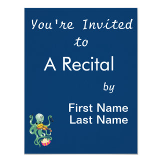 green octopus playing multiple percussion.png 4.25x5.5 paper invitation card