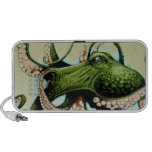 Green Octopus Portable Speakers