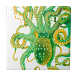 green octopus tile