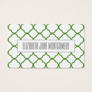 Green Ogee Modern Appointment Business Card