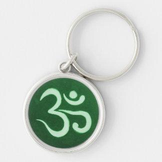 Green Ohm Round Keychain