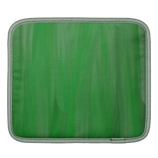 Green oil paint pattern iPad sleeves