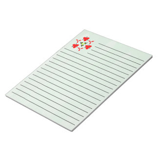 green oil paint pattern notepad