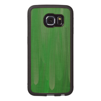 Green oil paint pattern wood phone case