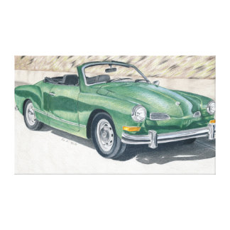 Green old Times - coloured pencil design Canvas Print