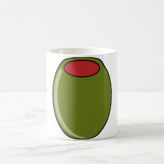 Green olive coffee mug