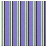 [ Thumbnail: Green, Olive Green, Lavender, Black & Slate Blue Fabric ]