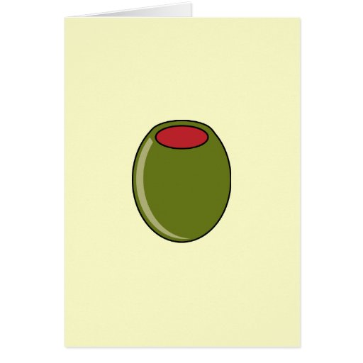 Green Olive Greeting Card