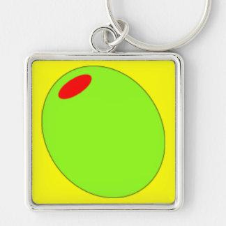 Green Olive Keychain