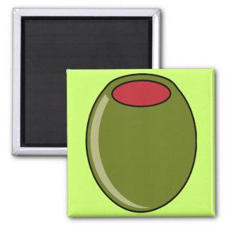 Green olive magnet