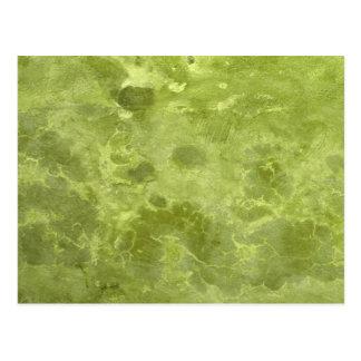 Green olive marble vintage chic elegant pattern postcard