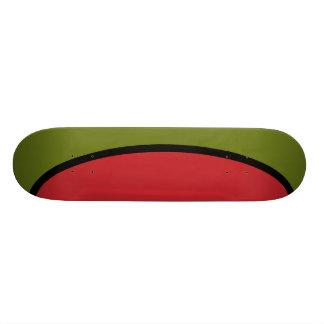 Green olive skate deck