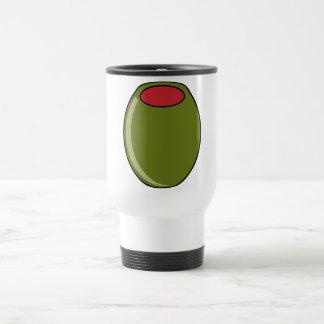Green olive travel mug