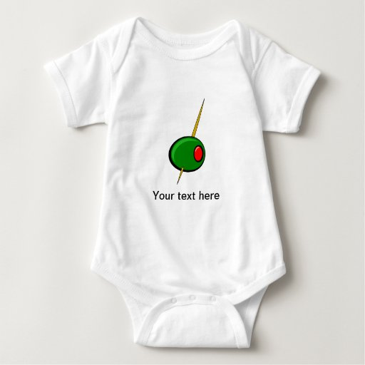 Green Olive with Red Pimento Baby Bodysuit