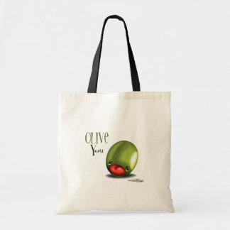 Green Olive you - I love you bag