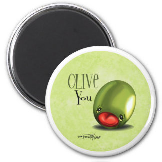 Green Olive you - I love you magnet