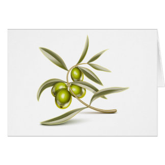 Green olives branch card