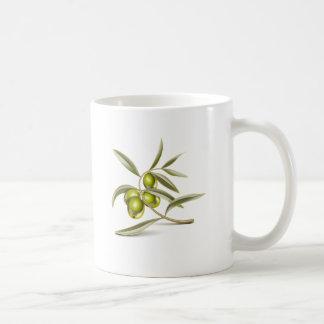 Green olives branch coffee mug