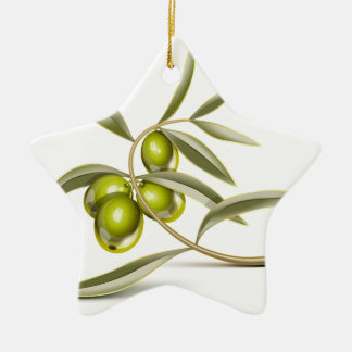 Green olives branch ornament