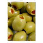 Green olives card