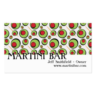 green olives pattern business card