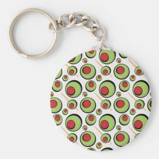 green olives pattern keychain
