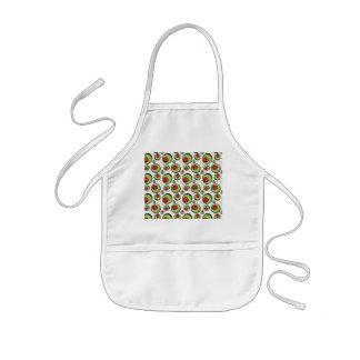 green olives pattern kids' apron