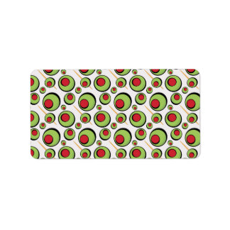 green olives pattern label