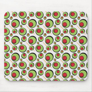 green olives pattern mouse pad